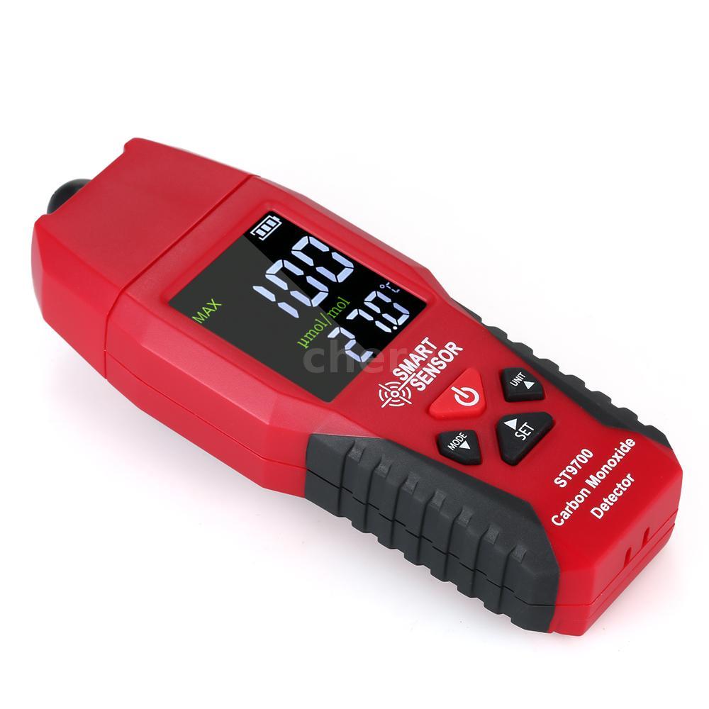 SMART SENSOR ST9700 Kohlenmonoxid-Handmessgerät CO-Gastester 0-1000ppm D7J5