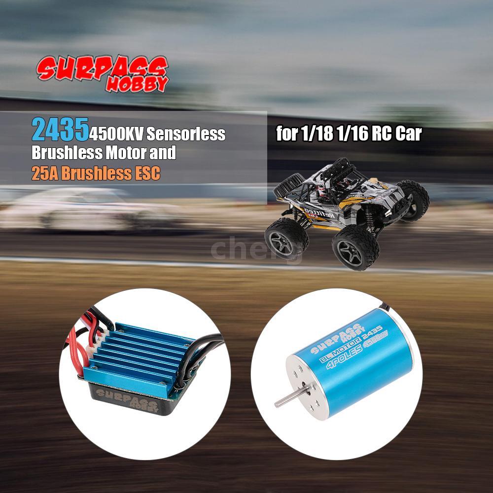 1//18 RC 2430 Sensorloser bürstenloser Motor mit 25A Regler für 1//16